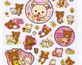 San-X Rilakkuma Bear Sticker Sheet - Happy Holiday Picnic - B