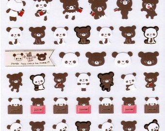 San-X Chocopa Bear Sticker Sheet - 01