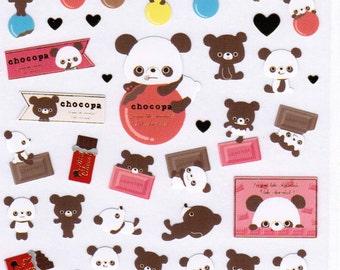 San-X Chocopa Bear Sticker Sheet - 02