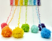 rainbow hand dyed Kid Mohair boucle Yarn -  perfect for doll hair and knitting