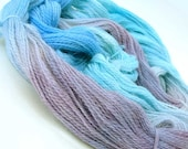 hand dyed Baby yarn alpaca rainbow - turquoise blue cobalt violet - 1.76 oz,150 yards -  perfect for doll hair, stripe sock,