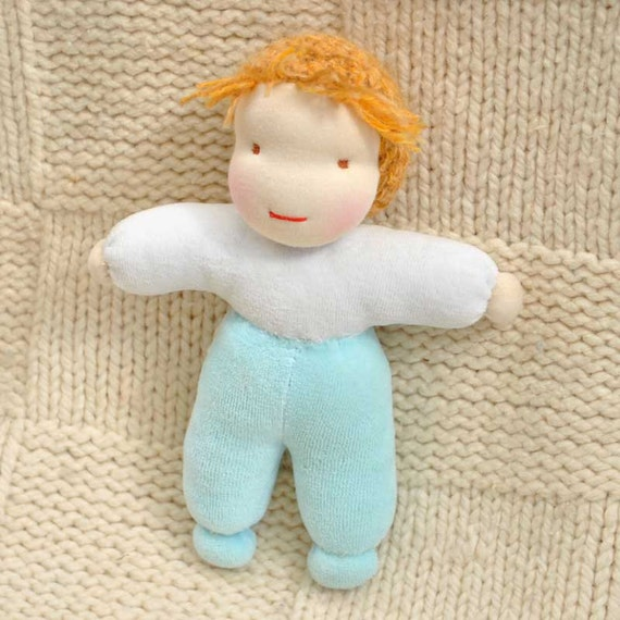 waldorf doll boy Small 18 cm (7 inches) for boys and girls baby eco friendly gifts for kids