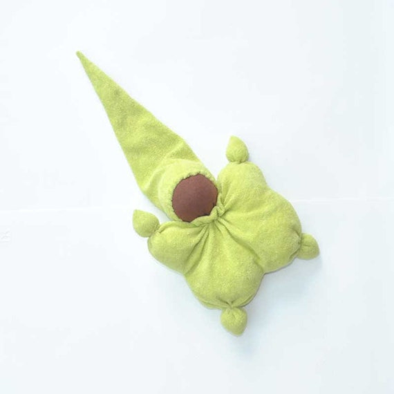 soft toys for baby- Teething waldorf doll on sale, baby toy green /eco friendly gifts for kids