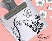 Plum Flowers (Sakura) Craft Stamp - C1142