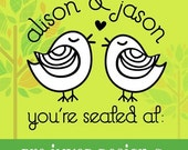 Love Birds (Self Inking Stamp / Pre-inked Stamp) Personalized Wedding Stamp, Save The Date, Place Card Stamp, RSVP, Address Stamp (P2015)