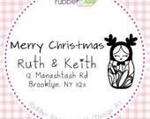 Custom Rubber Stamp (Matryoshka Nesting Doll) Merry Christmas Stamp, Weddings Stamp, Return Address Stamp, Children & Teacher Stamp. 1051