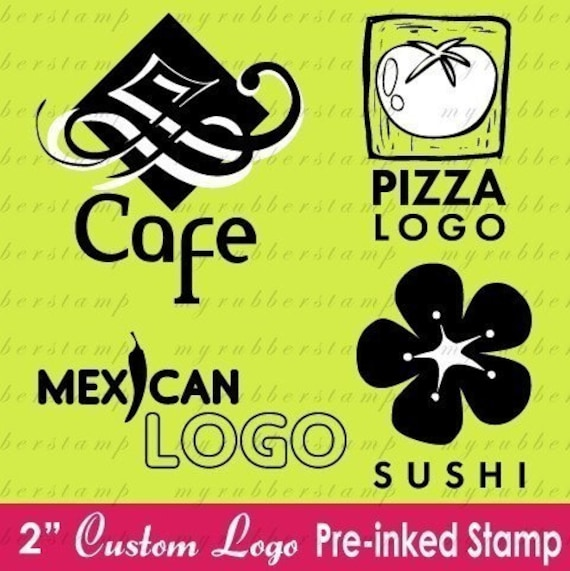 Custom LOGO or Your Own DESIGN Pre-Inked (Self - Inking) Stamp - 2 Inch- P2003