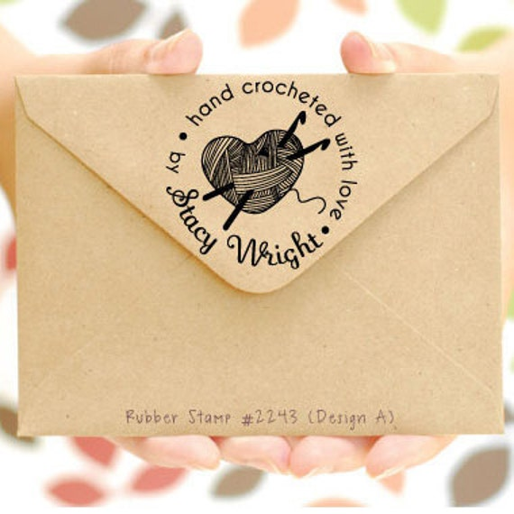 Crocheting By Hand : (Hand Crocheted with love by) Personalized Crochet Stamp, Crocheted ...