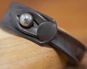 "Leather wristband ""Sleek chick"""