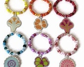 Flower Wine Glass Charms, Gifts for Wine Lovers Under 10, Housewarming Host Hostess, Stocking Stuffers