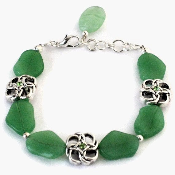 Green St Patrick's Day Bracelet OOAK