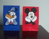 Donald Duck Favor Bags - 15 Personalized Favor Boxes - for Samantha