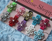 Baby Snap Clips - Sparkle Flower Collection- baby starter set of ten