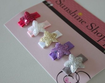 Boutique Style Baby Toddler baby Snap Clips - Sequined METALLIC Collection