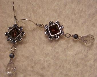 Earrings - Amber Swarovski