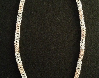 Rose & Silver Silverplated Persian Necklace