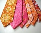 Mens Neckties, Orange Neckties, Neckties, Necktie, Cotton Neckties, Custom Neckties, Wedding Neckties, Pink Neckties
