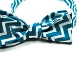 Teal Bow Tie, Bow Ties, Chevron Bow Tie, Mens Bow Ties, Boys Bow Ties, Custom Bow Ties, Cotton Bow Ties, Freestyle Bow Tie