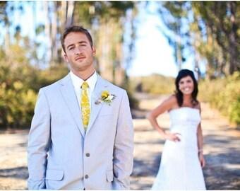 Yellow Neckties Mens Neckties Wedding Neckties Yellow Wedding Neckties Custom Neckties