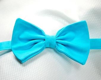 Aqua Bow Ties Bahama Blue Bow Ties Aqua Bow Ties Mens Bow Ties Custom Bow Ties Wedding Bow Ties
