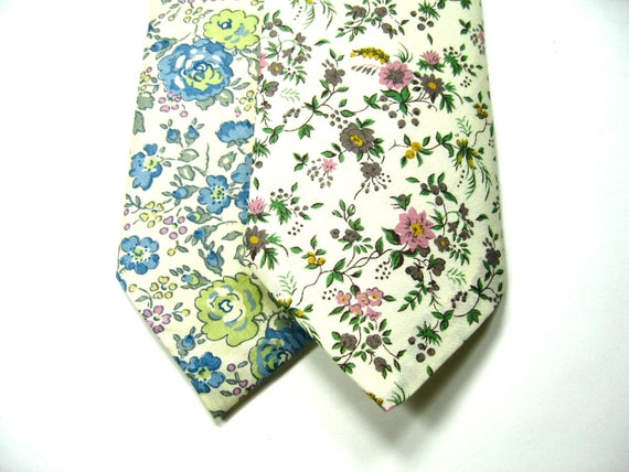 Custom Order for Lydia, 6 Mens Custom Neckties, 2 boys bow ties, Liberty of London Fabric,  Neckties, Wedding Neckties