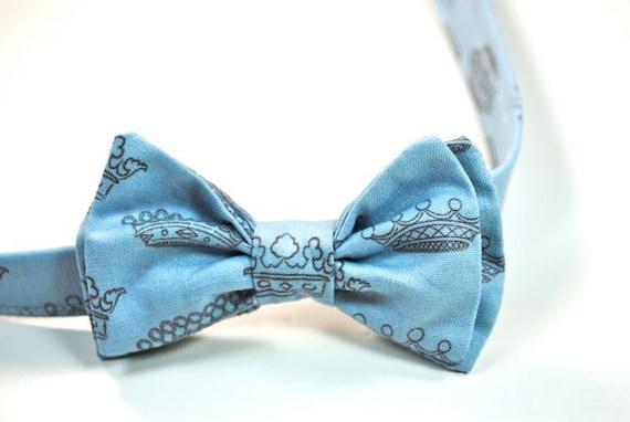 Boys Crown Bow Tie Boys Bow Tie Bow Tie Baby Blue Bow Tie King For A Day Bow Tie King Bow Tie