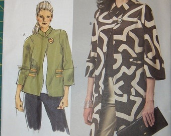 Vogue Patterns OOP Original Today's Fit Sandra Betzina Jacket Pattern V1262 Unlined Loose-Fitting Jackets, All Sizes Included
