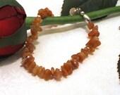 Orange Sunstone Chip Bead Bracelet - RESERVED for JOHANNA