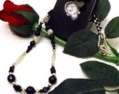 Faceted Black Onyx Necklace - FREE SHIPPING