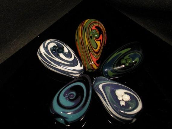 Bulk Discount 5 Swirled Smoke Stones Custom Colors Pocket Pieces