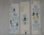 Set of 3 skeleton wall paper prints, edition variable