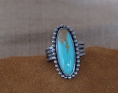 Holding for Michelle - Turquoise and Sterling Ring