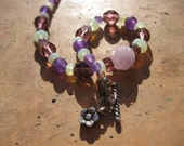 Purple Majesty Bracelet -- One-of-a-Kind Gorgeous Crystals and Glass -- Fit to Order // Proceeds Benefit Disaster Relief