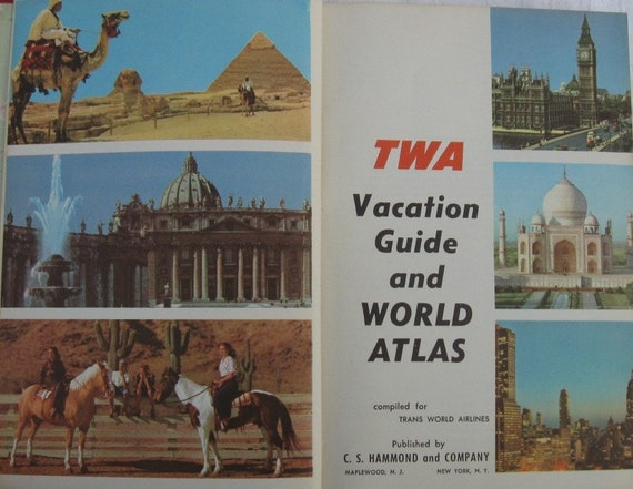 TWA Vacation Guide and World Atlas 1956