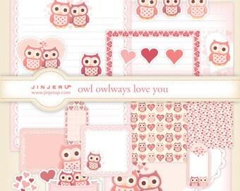 Owl owlways love you Stationery Plus Printable PDF