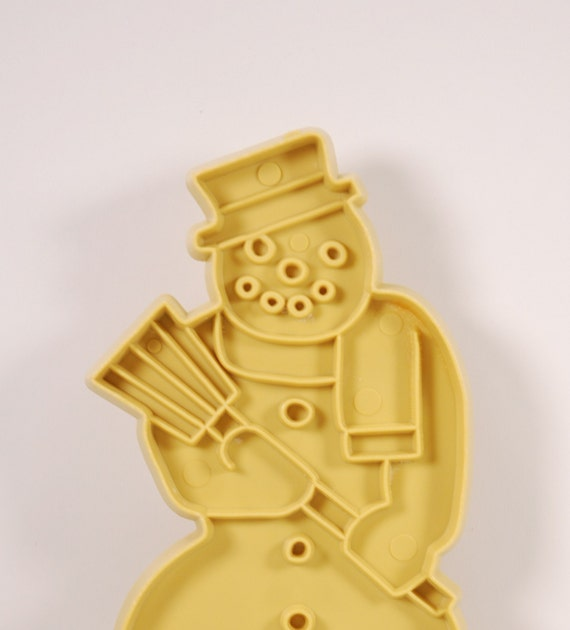 Vintage 60s Snowman Cookie Cutter, Stanley Home Products