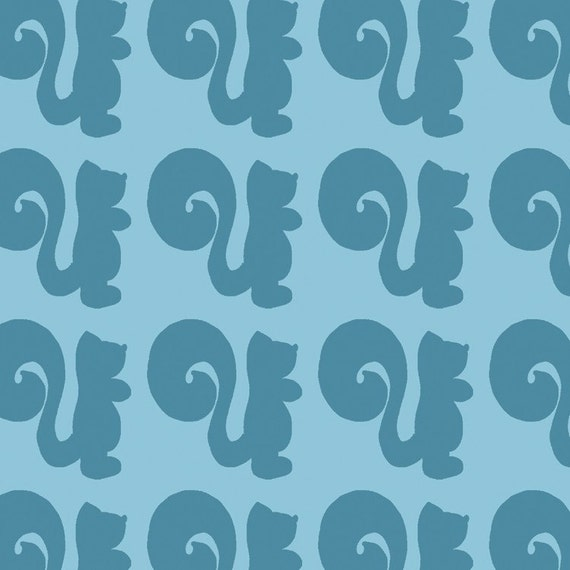 PETUNIAS' Original Fabric - COLORBLOCK SQUIRREL - FAT QUARTER