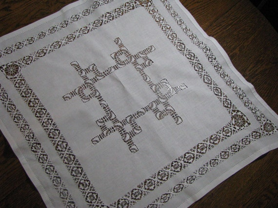 RESERVED Vintage Teneriffe LaceTablecloth
