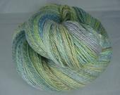 Mermaid Tails - 2-ply 50/50 superwash merino/tencel handspun yarn - fingering/light fingering, 413.5 yards, 3.3 ounces