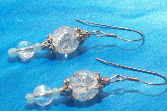 Earrings Fairytale Crackle Bead Princess E-P2010-0014