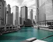 Chicago River from the Michigan Avenue Bridge - 8x10 print