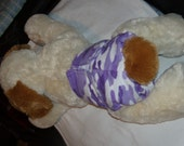 "Female dog diaper handmade 18-19"" elastic waist and around legs"
