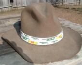 Beaded Hatband Chinook and Vietnam Service Ribbon