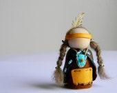 Waldorf Inspired Little Native American Boy Gnome