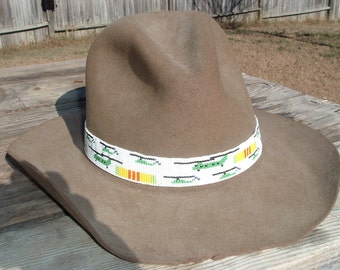 Beaded Hatband Chinook and Vietnam Service Ribbon