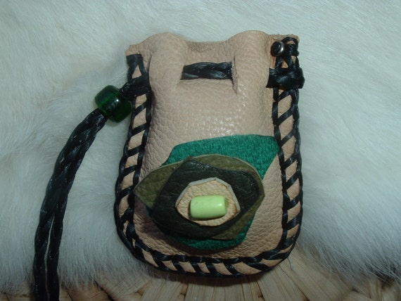 Small Medicine Bag to put into your pocket and also Great to carry around on St. Patricks day