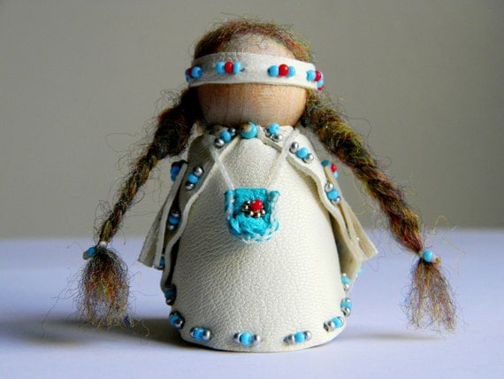 This is a special order for ((((( Zaira and Caroline)))))    Waldorf Inspired Native American Bride Gnome