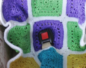Crochet Car Seat Cover up