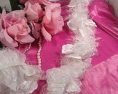 E5665 White Bridal Wedding Flower Stretchy Sewing Trim