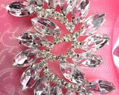 "ACT/XR120 Marquise Swirl Crystal Rhinestone Applique Embellishment 2.75"" (ACT/XR120-slcr)"
